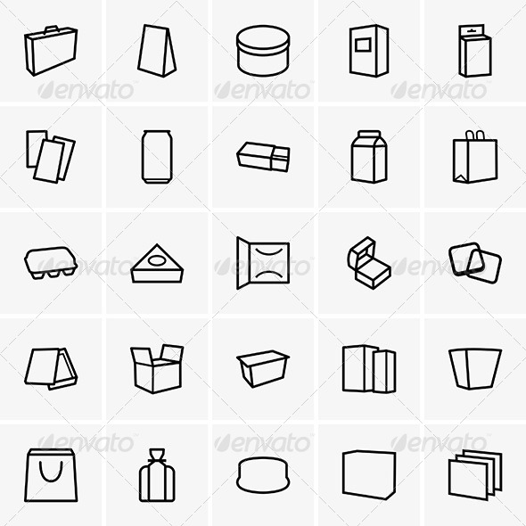 GraphicRiver Package Icons 7712784