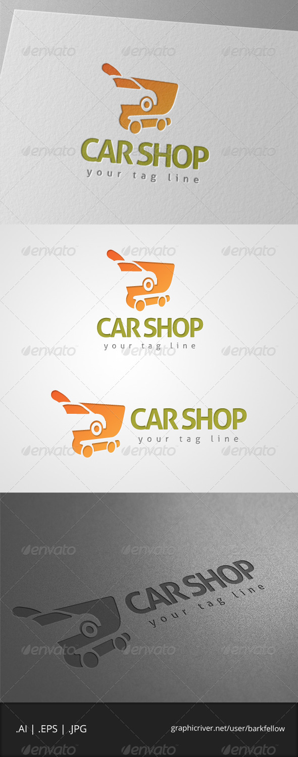 GraphicRiver Car Shop Logo 7173927