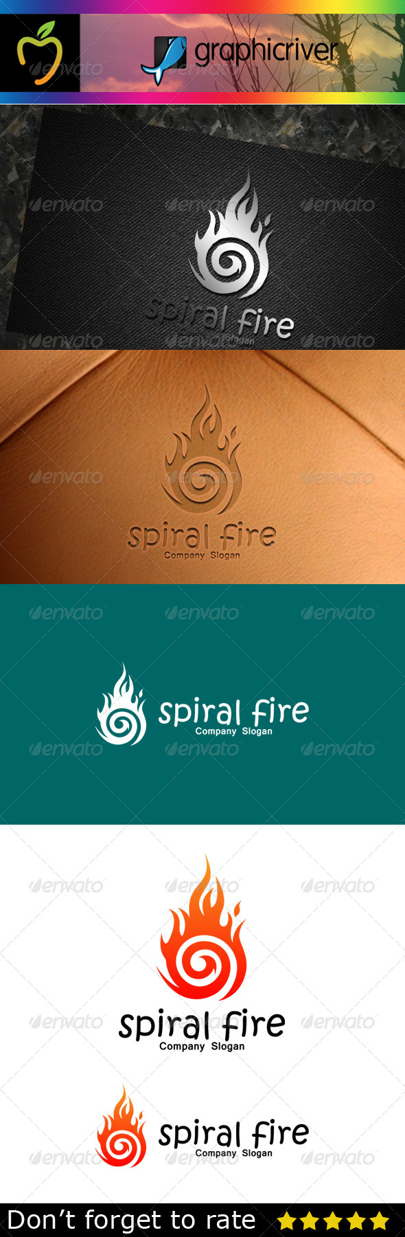 GraphicRiver Spiral Fire Logo 7714652