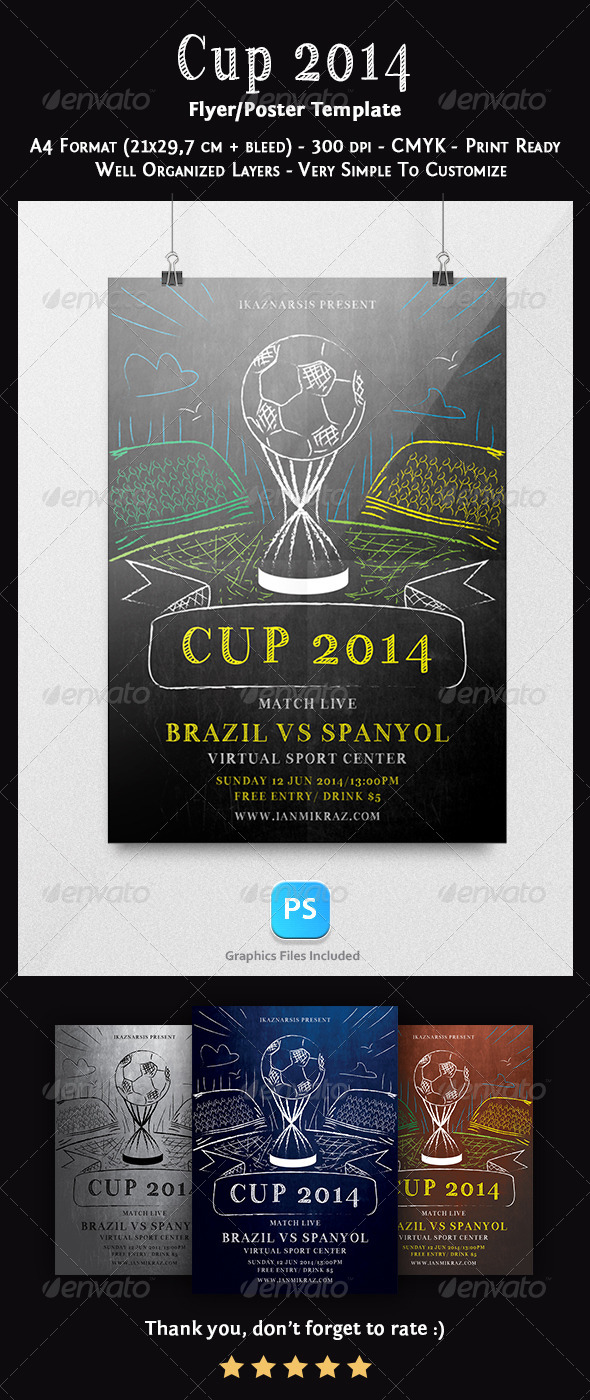 GraphicRiver Cup 2014 Flyer Template 7686657