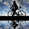 silhouette of the cyclist  - PhotoDune Item for Sale