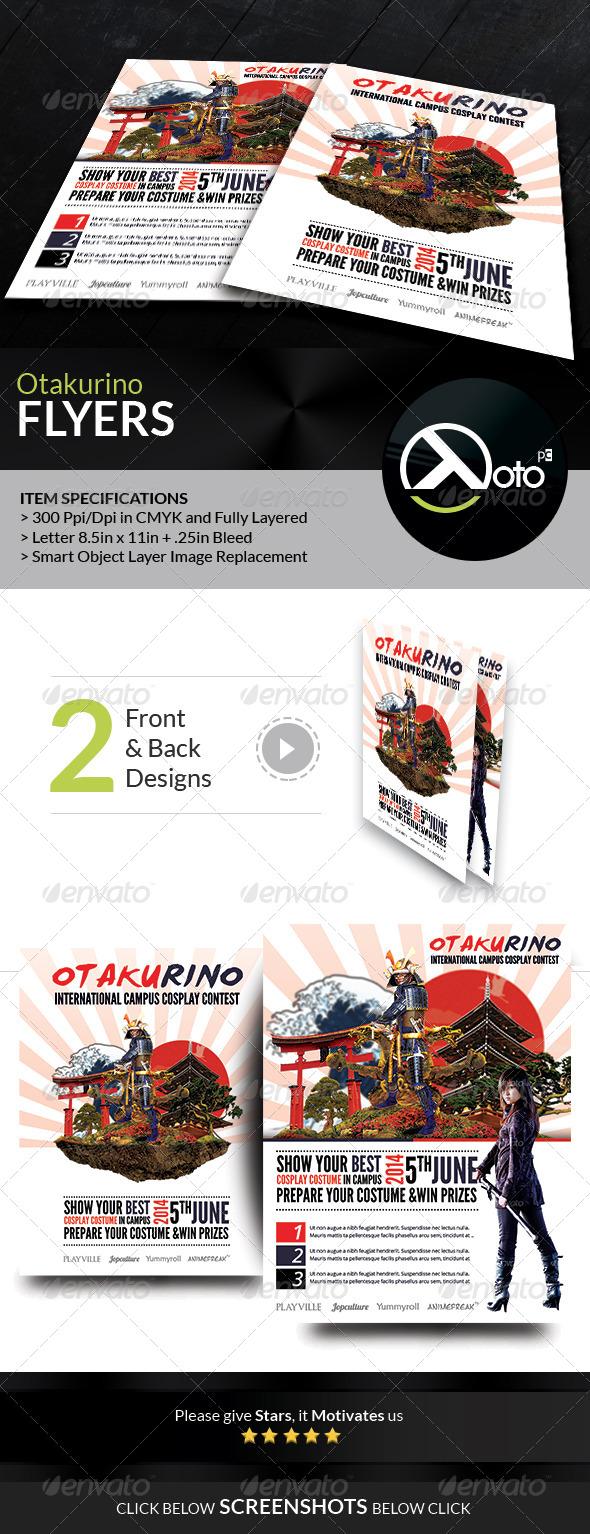 GraphicRiver Otakurino International Cosplay Contest Flyers 7717200
