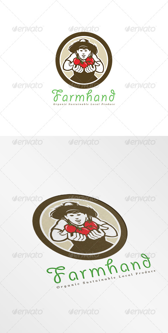 GraphicRiver Farmhand Organic Sustainable Produce Logo 7717381