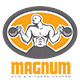 Magnum Gym and Fitness Center Logo - GraphicRiver Item for Sale
