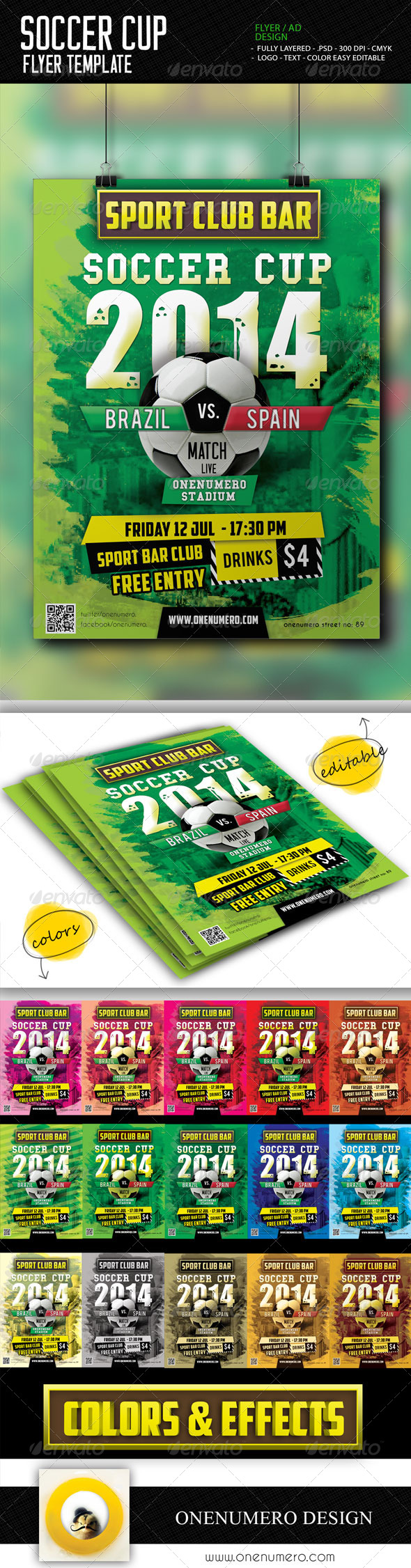 GraphicRiver Soccer Cup Flyer Template 7717632