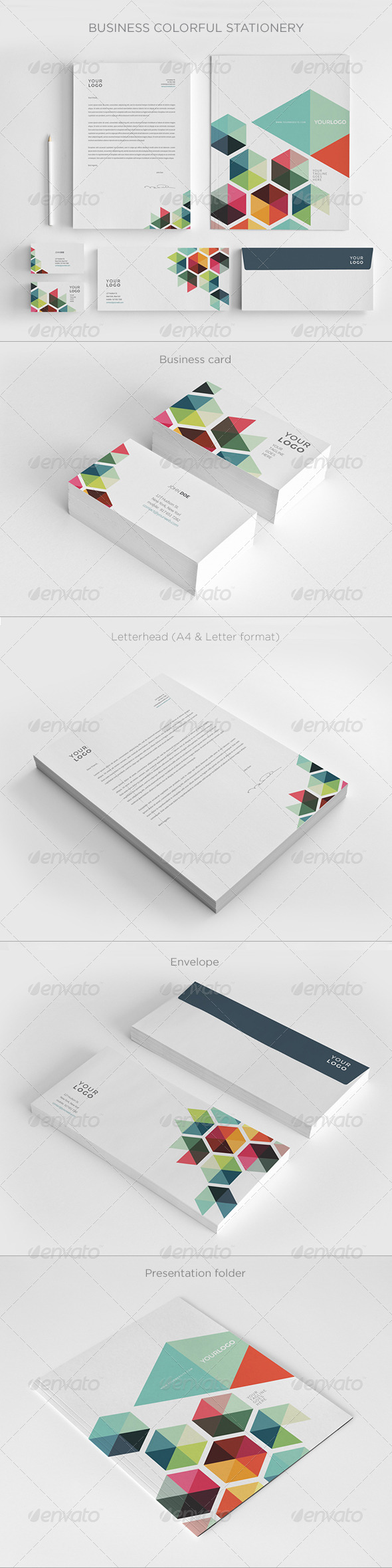 GraphicRiver Business Colorful Stationery 7717637