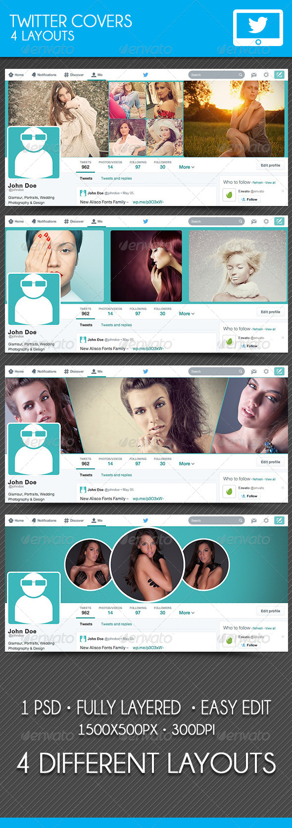 GraphicRiver Twitter Covers 7718233