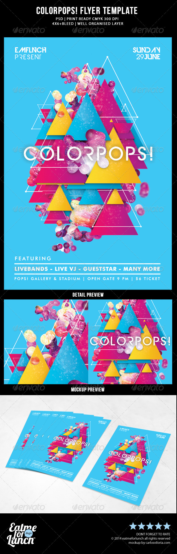GraphicRiver Futuristic Abstract Concert Gigs Festival Flyer 7718734