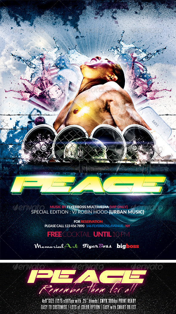 GraphicRiver Peace Party Flyer 7719071