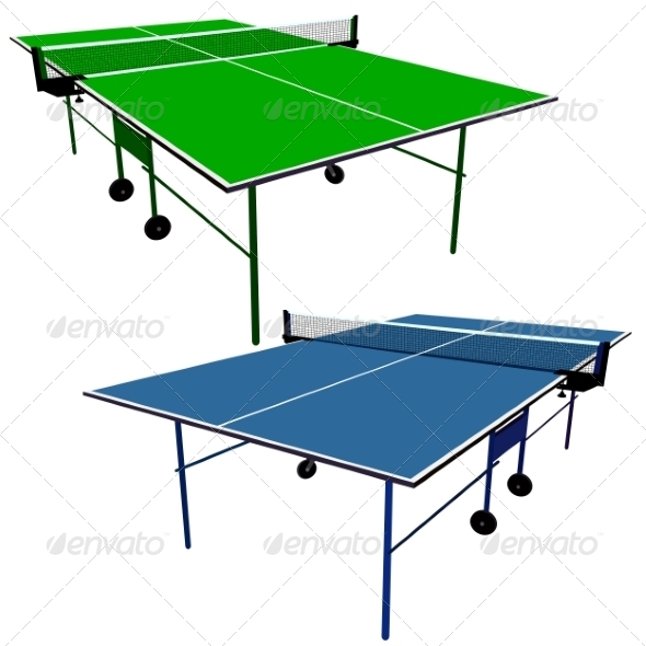 GraphicRiver Ping Pong Table Tennis Tables 7719810