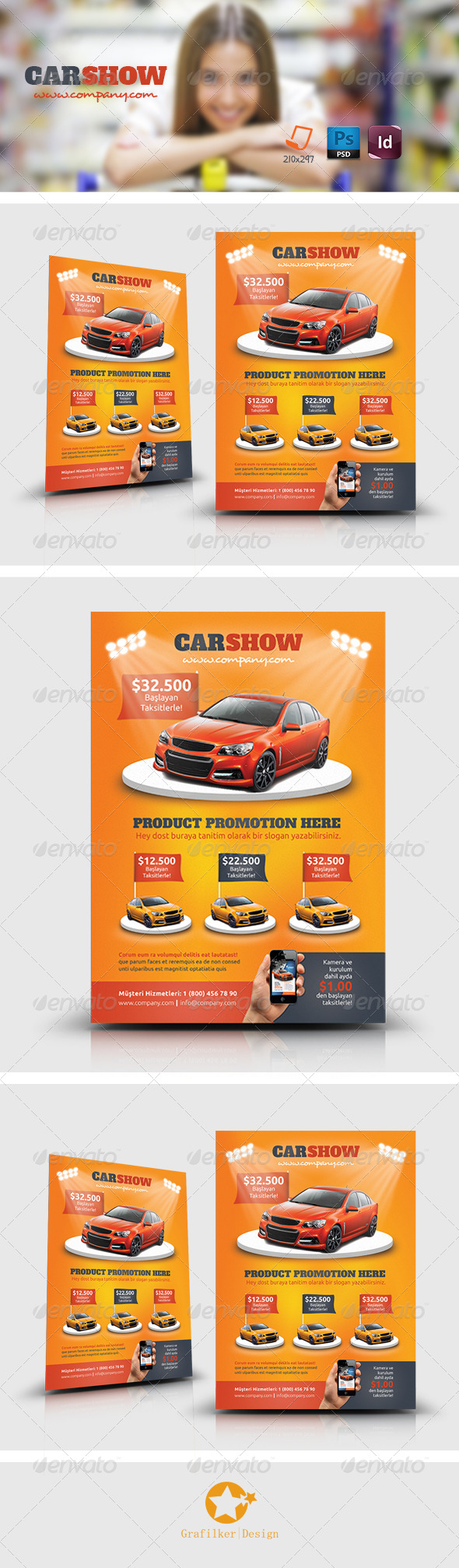 GraphicRiver Car Show Flyer Templates 7720203