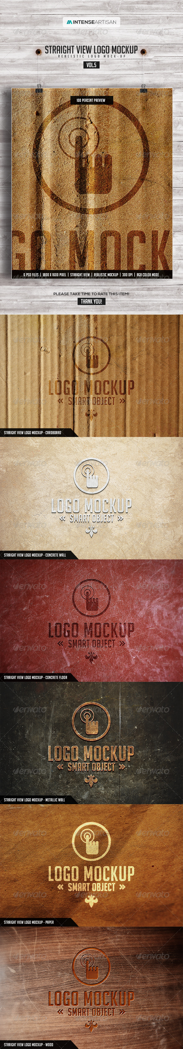 GraphicRiver Straight View Logo Mockup Vol.5 7720331