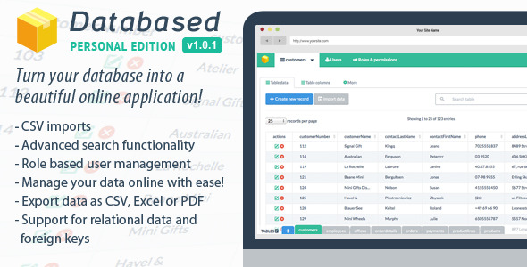 CodeCanyon Databased Personal Edition 7720610
