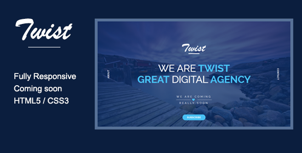 ThemeForest TWIST Responsive Coming Soon Page 7720627