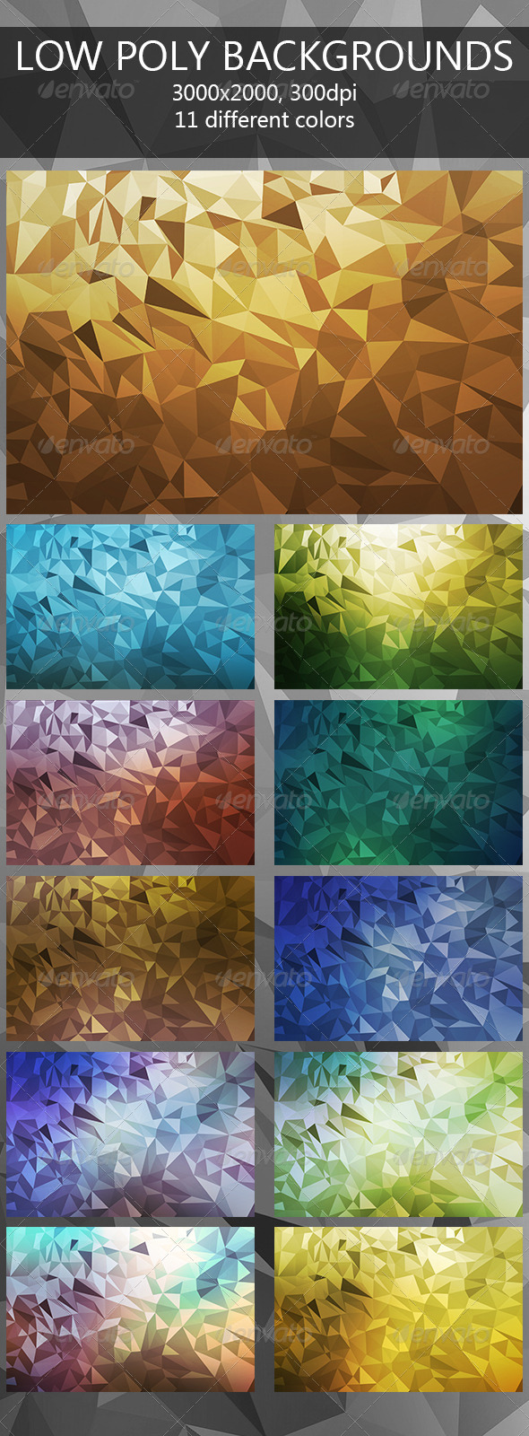 GraphicRiver Low Poly Backgrounds 7720807