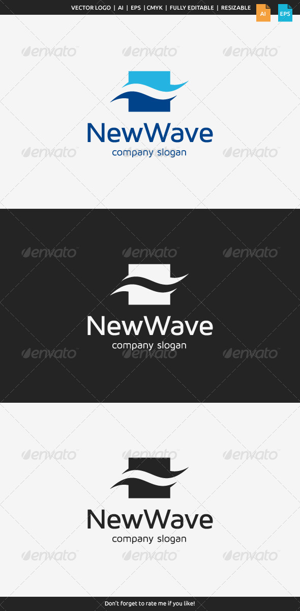 GraphicRiver New Wave Logo 7721223