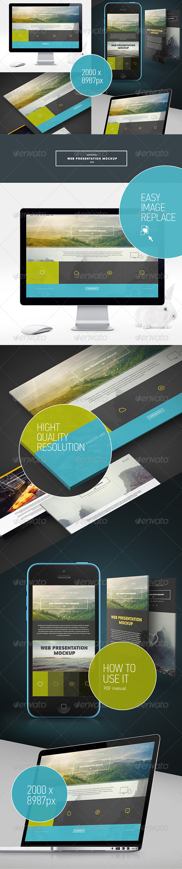 GraphicRiver Web Presentation Mock-Up PSD 7700900