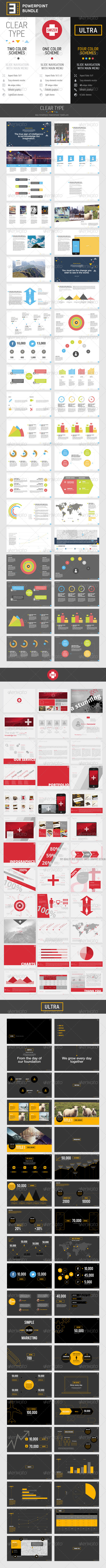GraphicRiver 3-in-1 PowerPoint Bundle 7721814
