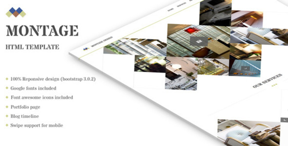 ThemeForest Montage Clean HTML showcase site 7662103
