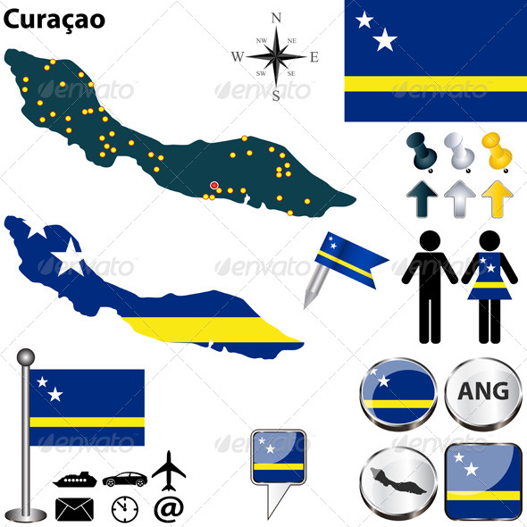GraphicRiver Map of Curacao 7722007