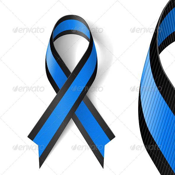 GraphicRiver Blue and Black Ribbon 7723361