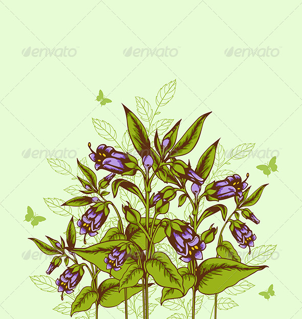 GraphicRiver Background with Bellflower 7723581