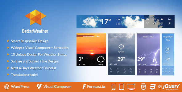 CodeCanyon Better Weather WordPress version 7724257