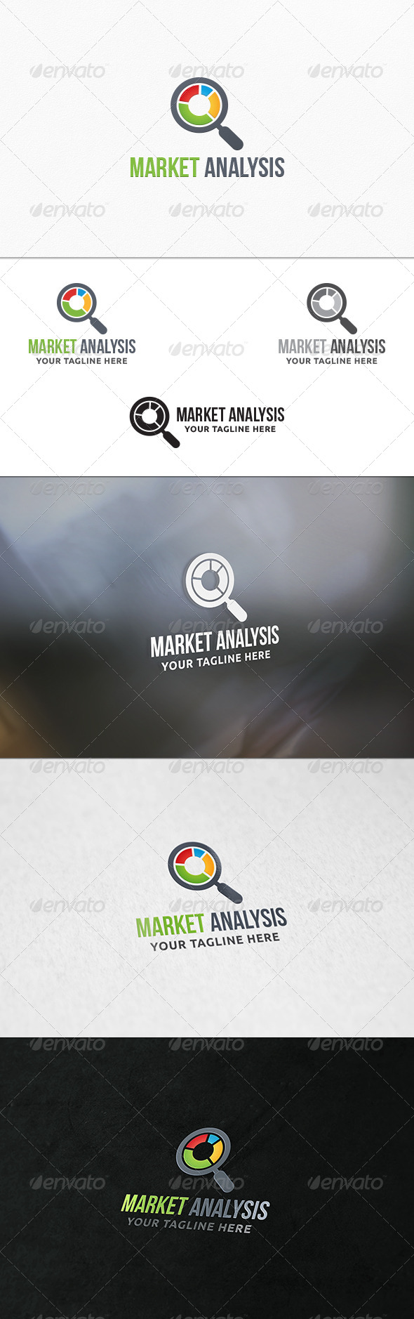 GraphicRiver Market Analysis Logo Template 7724464