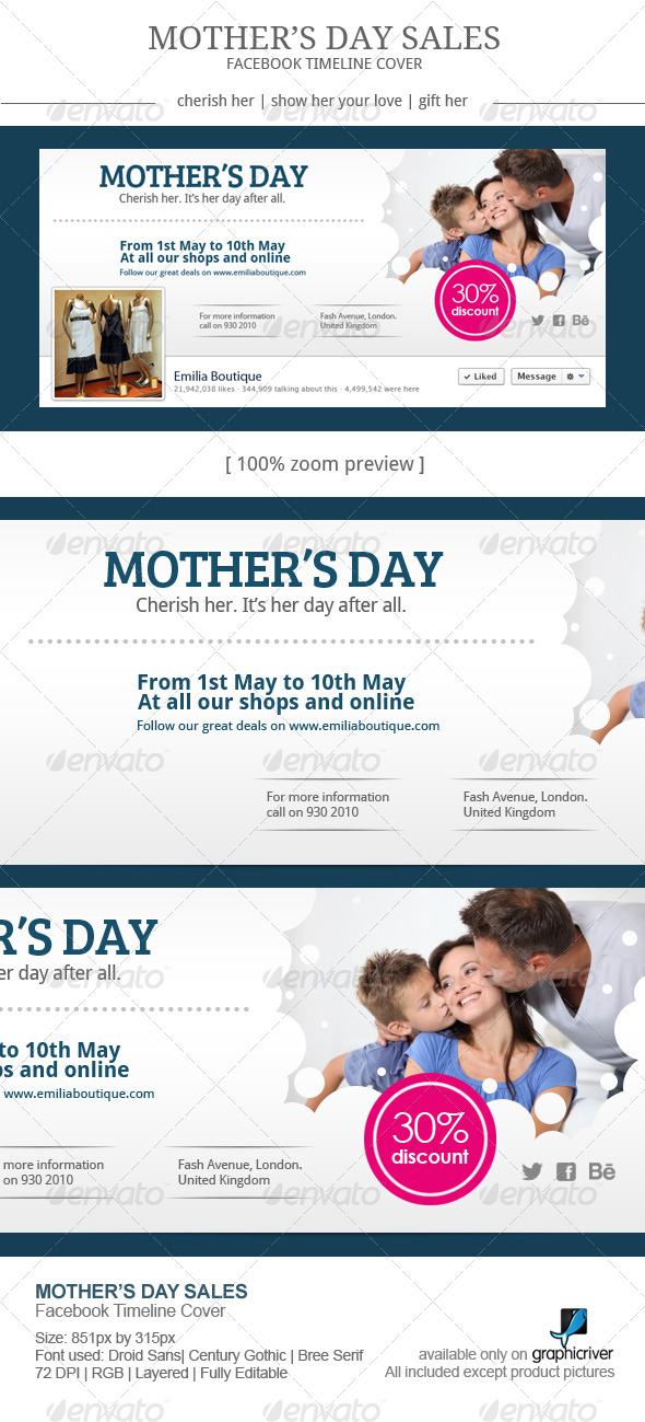 GraphicRiver Mother s Day Sales Facebook Cover 7724516