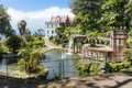 Tropical garden with pond and palace at Funchal,  Madeira island, Portugal - PhotoDune Item for Sale