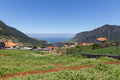 Landscape of Madeira with mountains, houses and agriculture - PhotoDune Item for Sale