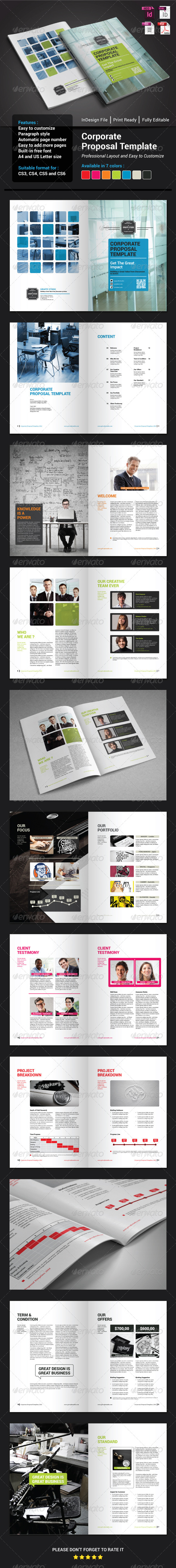 GraphicRiver Corporate Proposal Template 7724875
