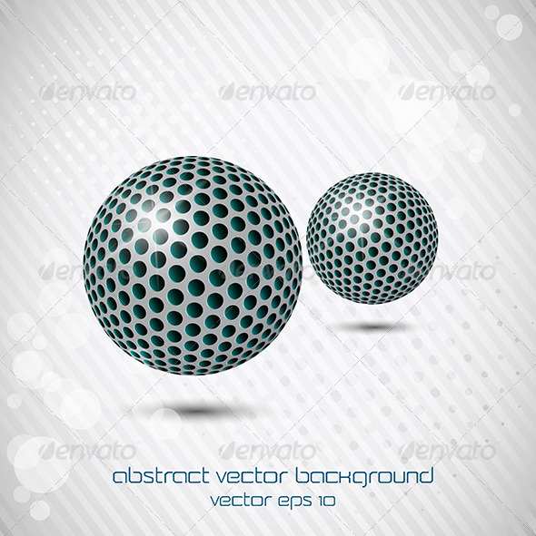 GraphicRiver Abstract Coloured Spheres 7728559