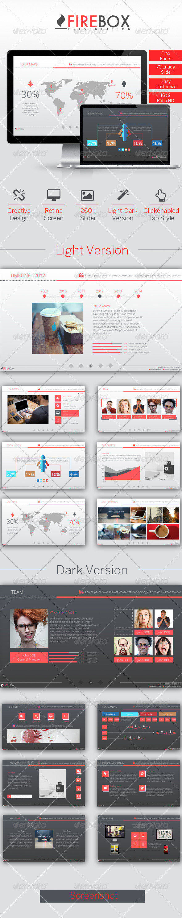 GraphicRiver FireBox Creative Keynote Presentation Template 7672749