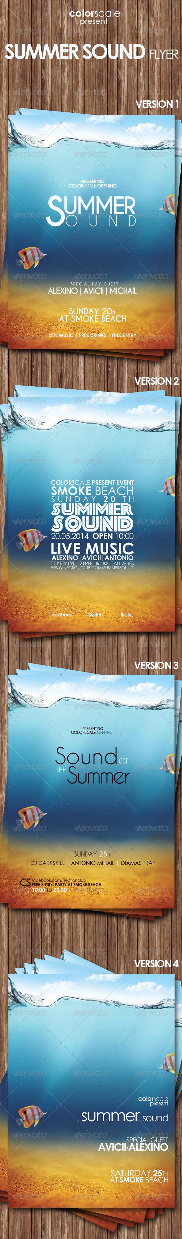 GraphicRiver Summer Sound Flyer 7729918