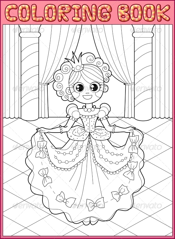 GraphicRiver Coloring book Fairy tail 7730436
