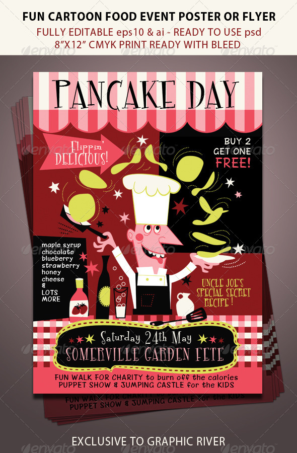 GraphicRiver Pancake Day or Food Festival Event 7730512