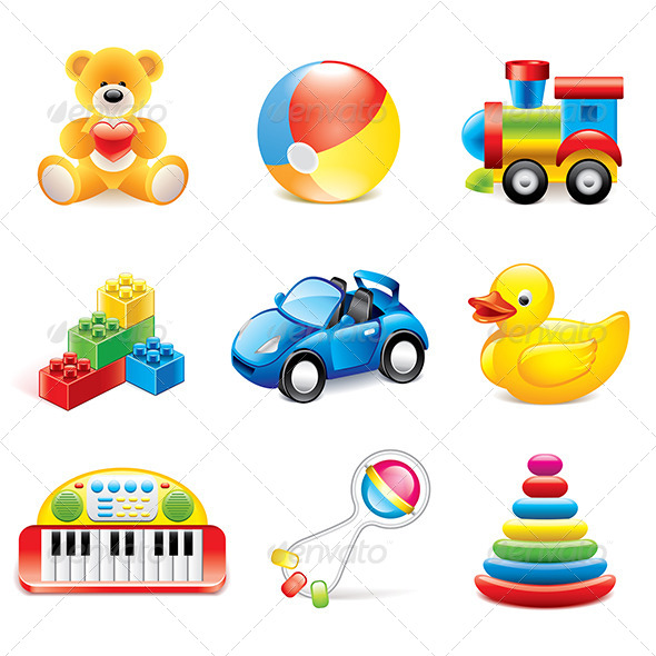 GraphicRiver Colorful Toys Icons 7733660