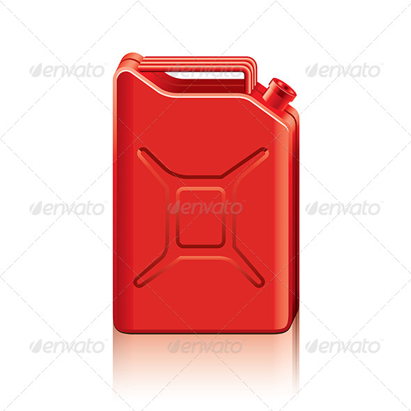 GraphicRiver Red Jerrycan 7733907