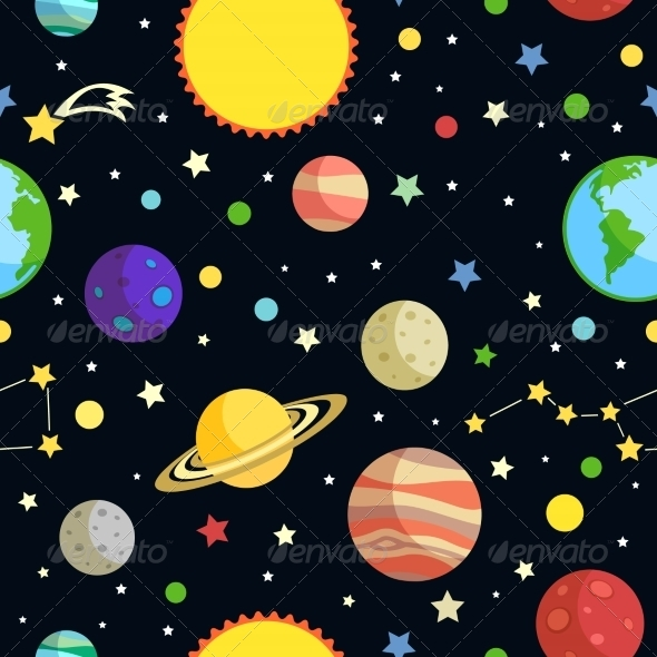 GraphicRiver Space Seamless Pattern 7733973