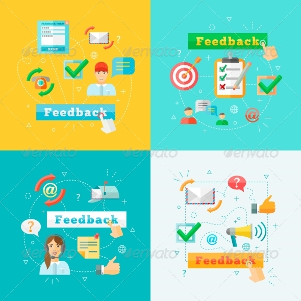 GraphicRiver Feedback Web Infographic Elements Set 7733999