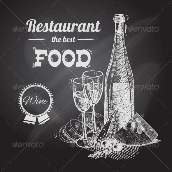 GraphicRiver Wine Cheese Poster 7734011