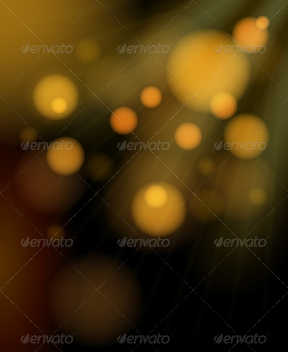 GraphicRiver Blurred Golden Bubbles Shimmering Background 7734166