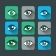 Eyes Icons Flat Set - GraphicRiver Item for Sale