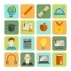 E-learning Flat Icon Set - GraphicRiver Item for Sale
