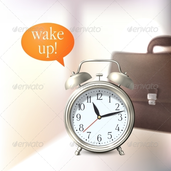 GraphicRiver Alarm Clock Background 7734181