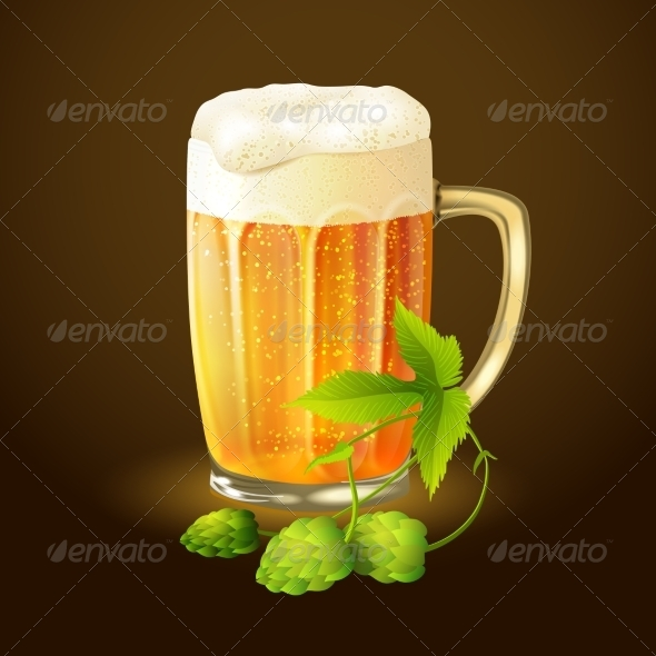 GraphicRiver Beer Hop Background 7734183