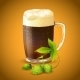 Dark Beer and Hop Background - GraphicRiver Item for Sale