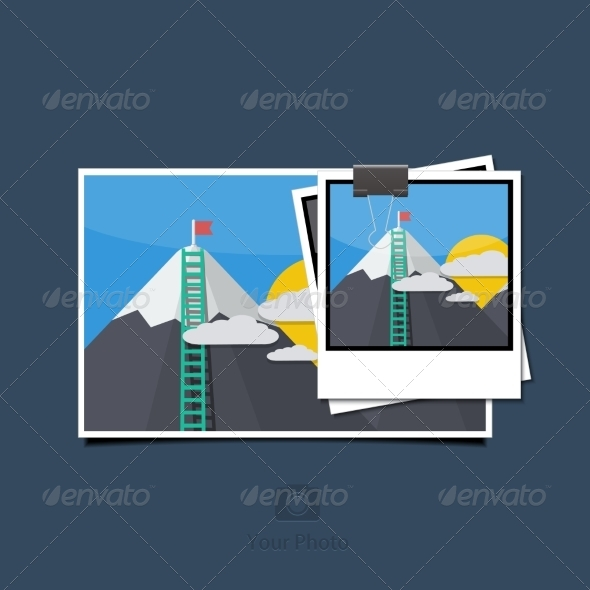 GraphicRiver Photo Set on Blue Background 7735098