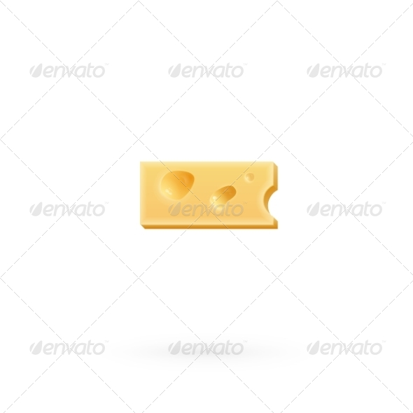 GraphicRiver Cheese Minus Mark Symbol Isolated on White 7735193